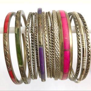 Set of 14 Bangle Bracelets